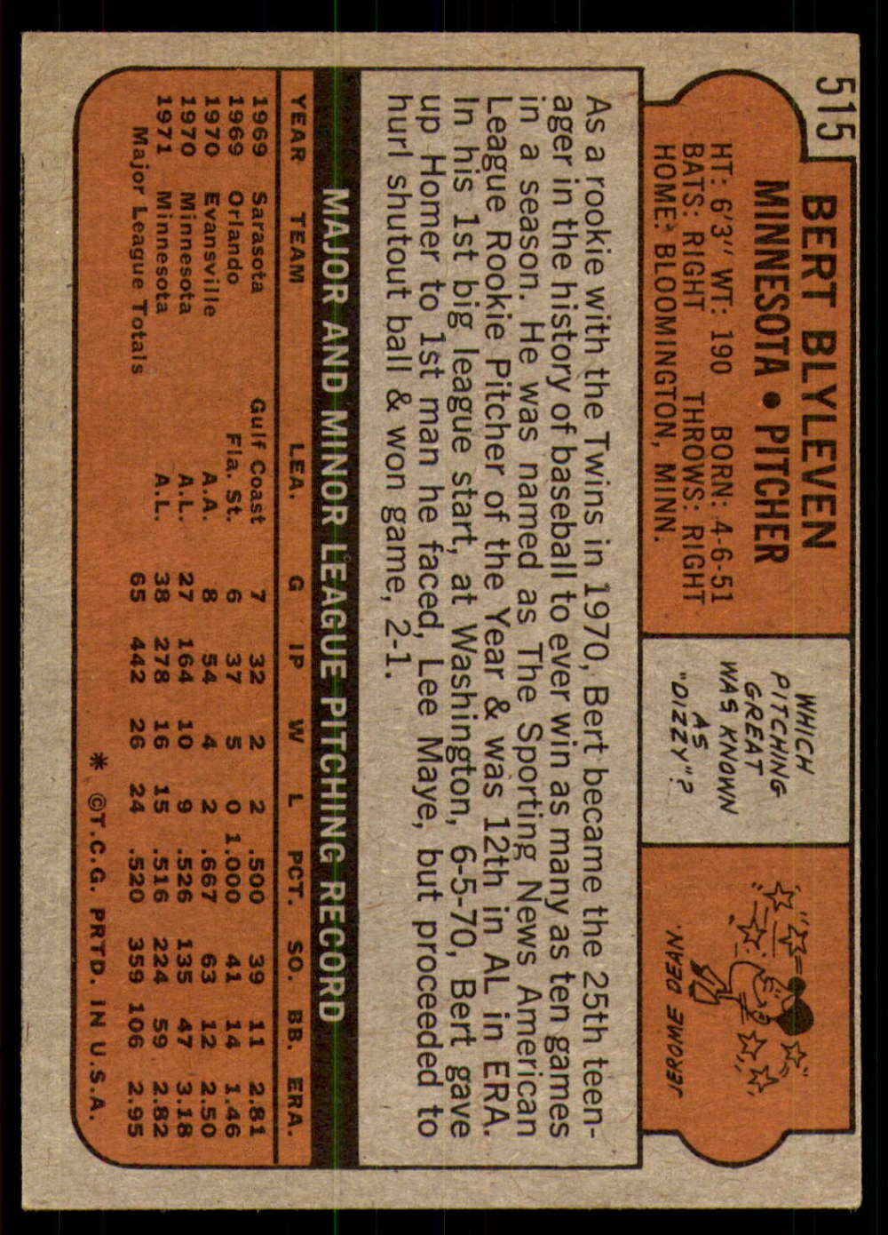 1972-Topps-Baseball-Set-497-787-Pick-Your-Card-Each-Card-Scanned-Front-amp-Back thumbnail 17