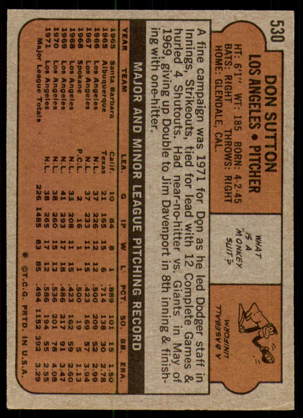 1972-Topps-Baseball-Set-497-787-Pick-Your-Card-Each-Card-Scanned-Front-amp-Back thumbnail 29
