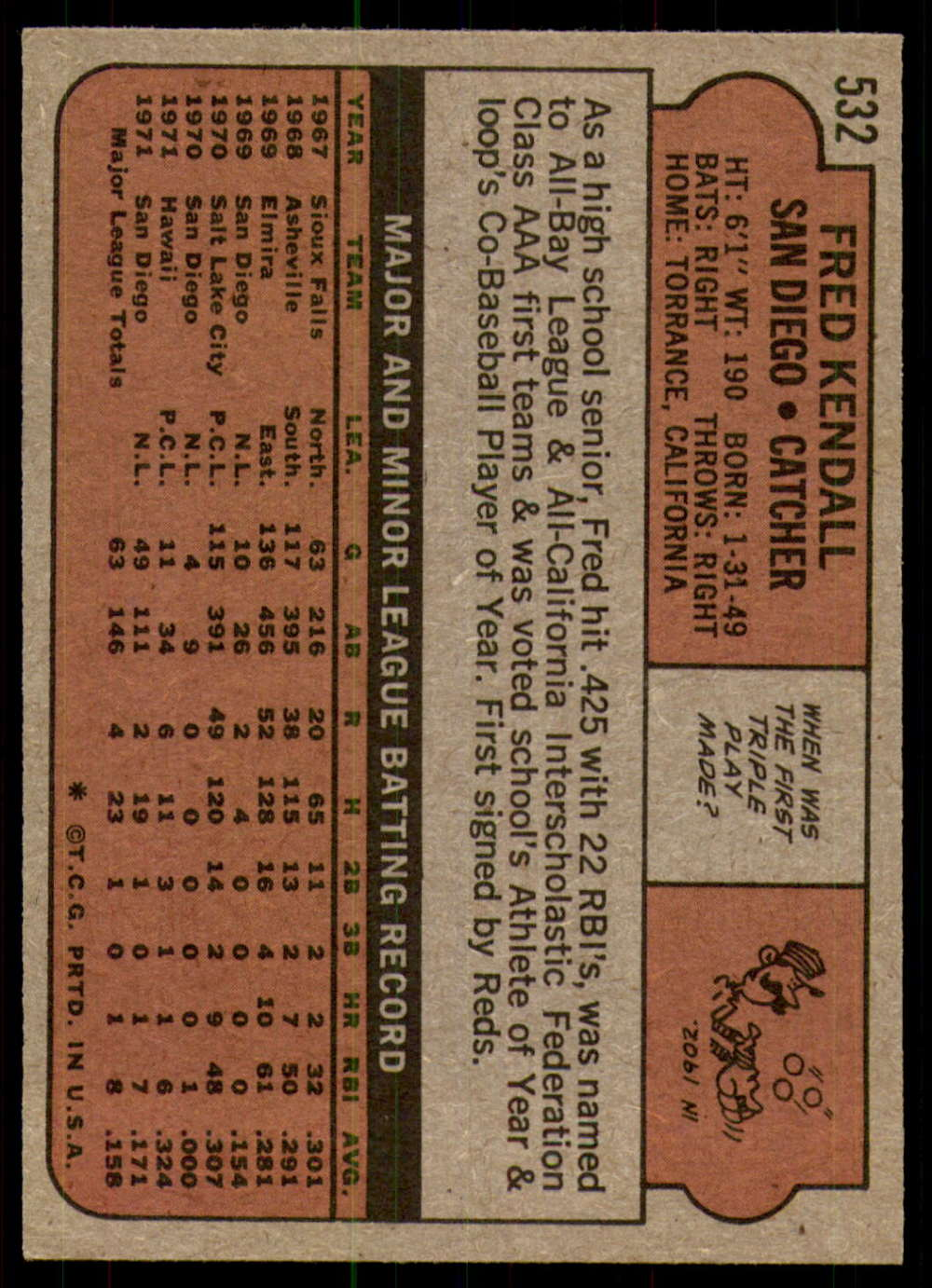 1972-Topps-Baseball-Set-497-787-Pick-Your-Card-Each-Card-Scanned-Front-amp-Back thumbnail 35