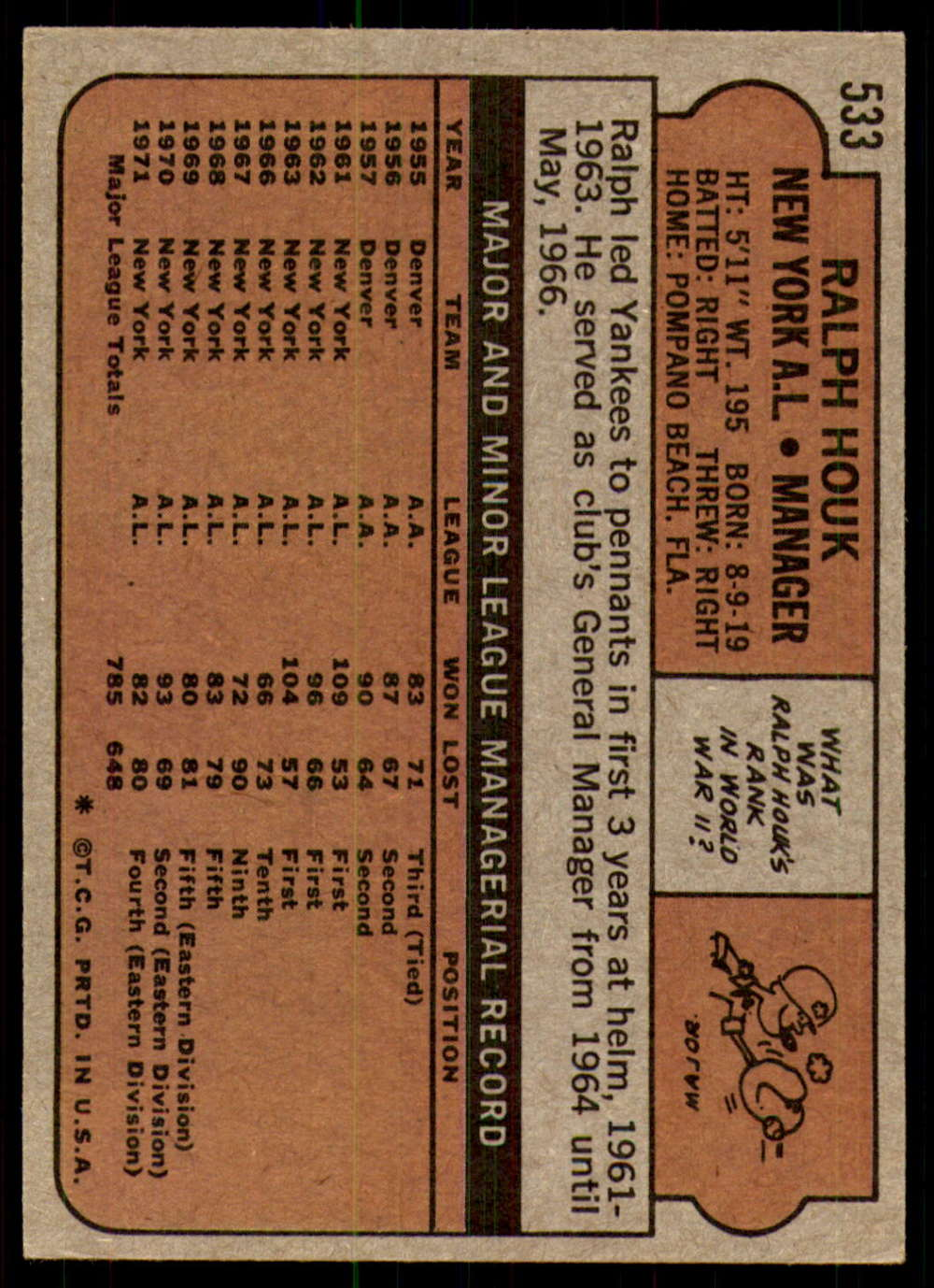 1972-Topps-Baseball-Set-497-787-Pick-Your-Card-Each-Card-Scanned-Front-amp-Back thumbnail 37
