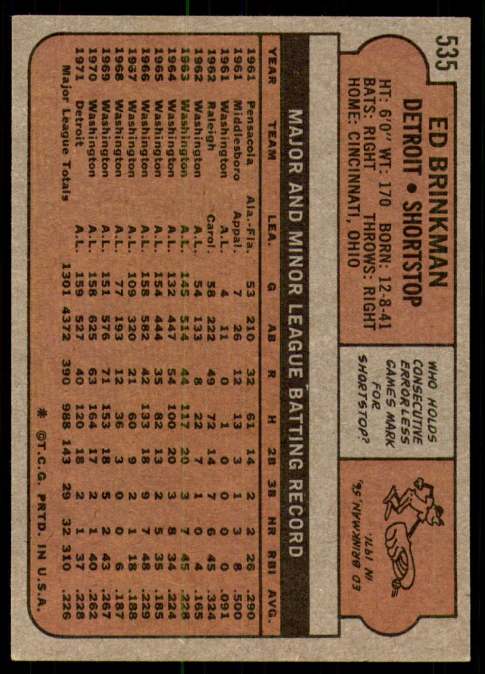1972-Topps-Baseball-Set-497-787-Pick-Your-Card-Each-Card-Scanned-Front-amp-Back thumbnail 41
