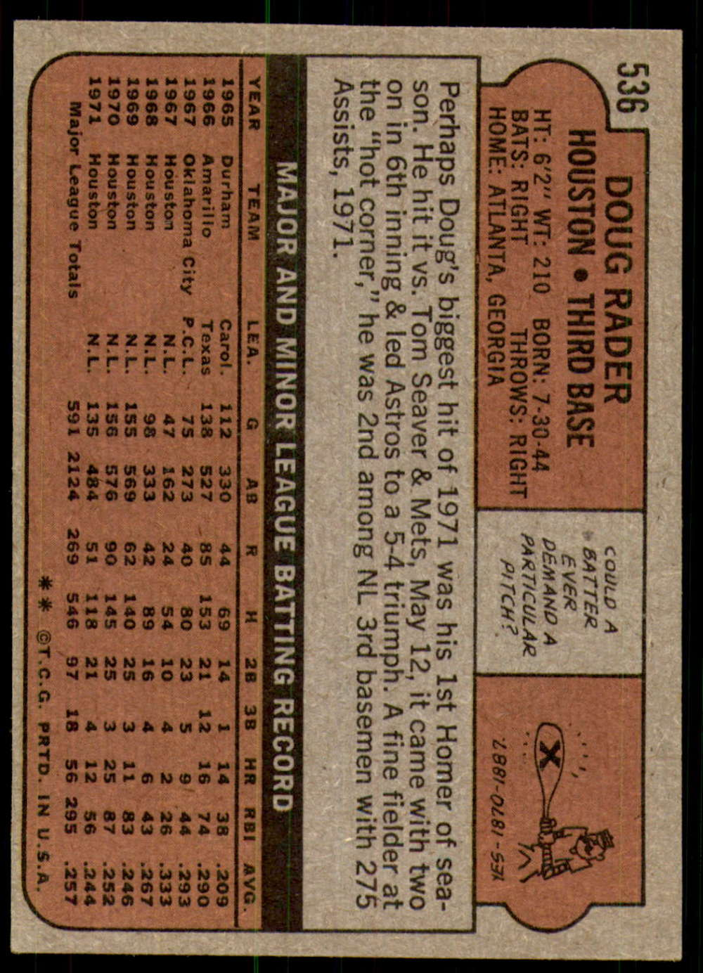1972-Topps-Baseball-Set-497-787-Pick-Your-Card-Each-Card-Scanned-Front-amp-Back thumbnail 45
