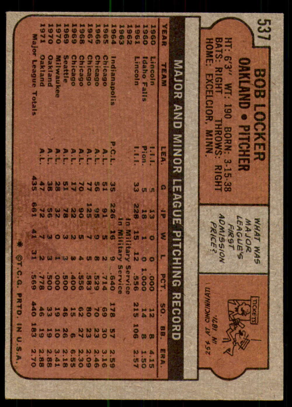 1972-Topps-Baseball-Set-497-787-Pick-Your-Card-Each-Card-Scanned-Front-amp-Back thumbnail 49