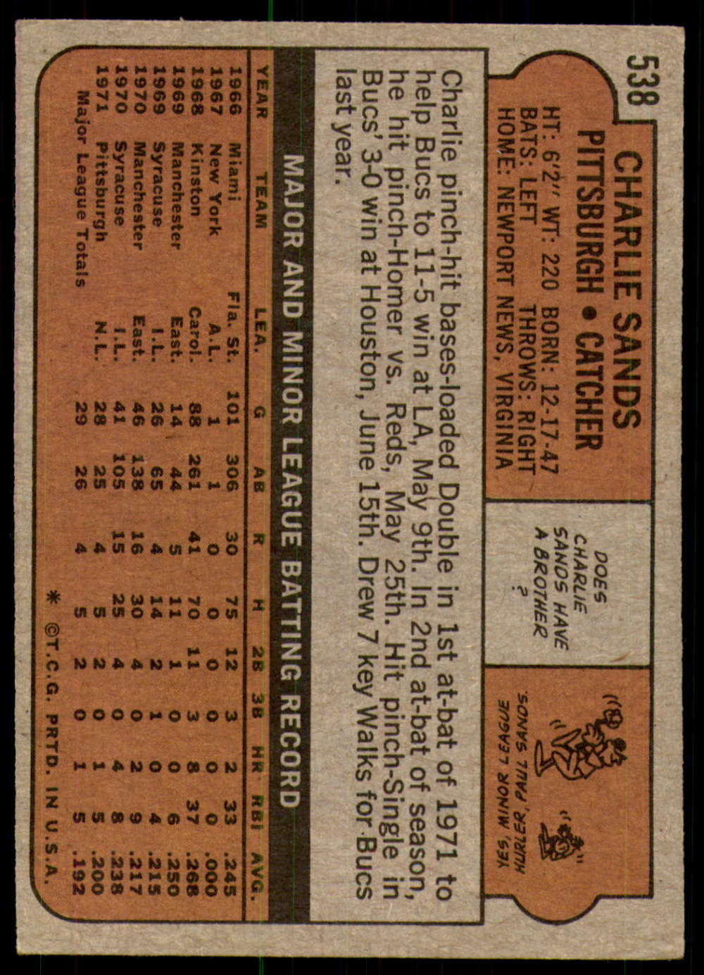 1972-Topps-Baseball-Set-497-787-Pick-Your-Card-Each-Card-Scanned-Front-amp-Back thumbnail 51