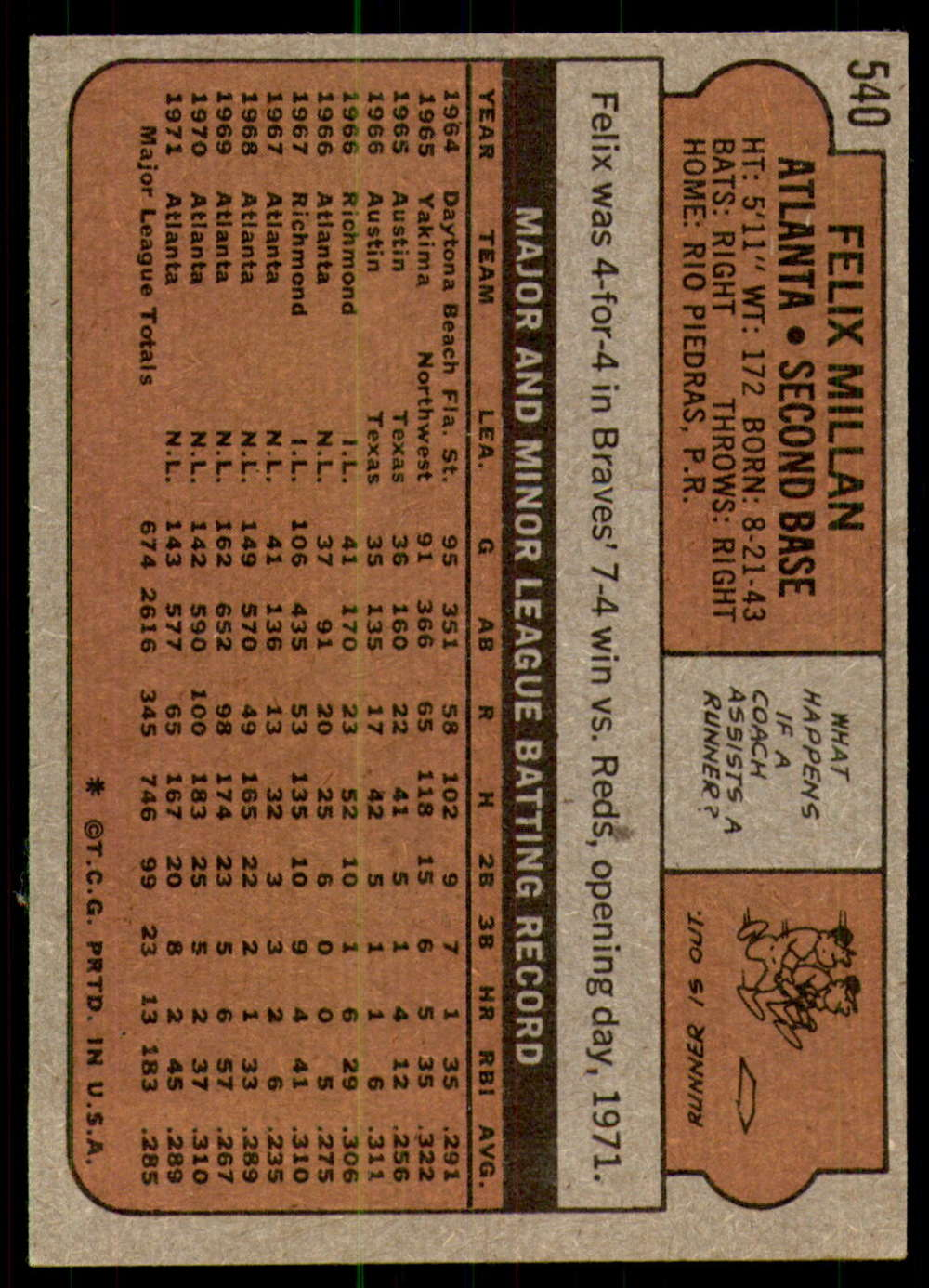 1972-Topps-Baseball-Set-497-787-Pick-Your-Card-Each-Card-Scanned-Front-amp-Back thumbnail 59