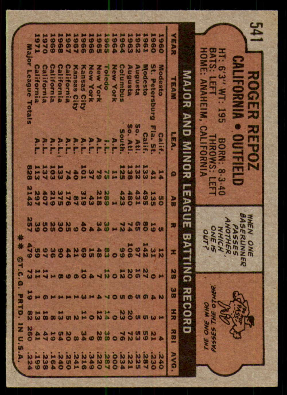 1972-Topps-Baseball-Set-497-787-Pick-Your-Card-Each-Card-Scanned-Front-amp-Back thumbnail 63