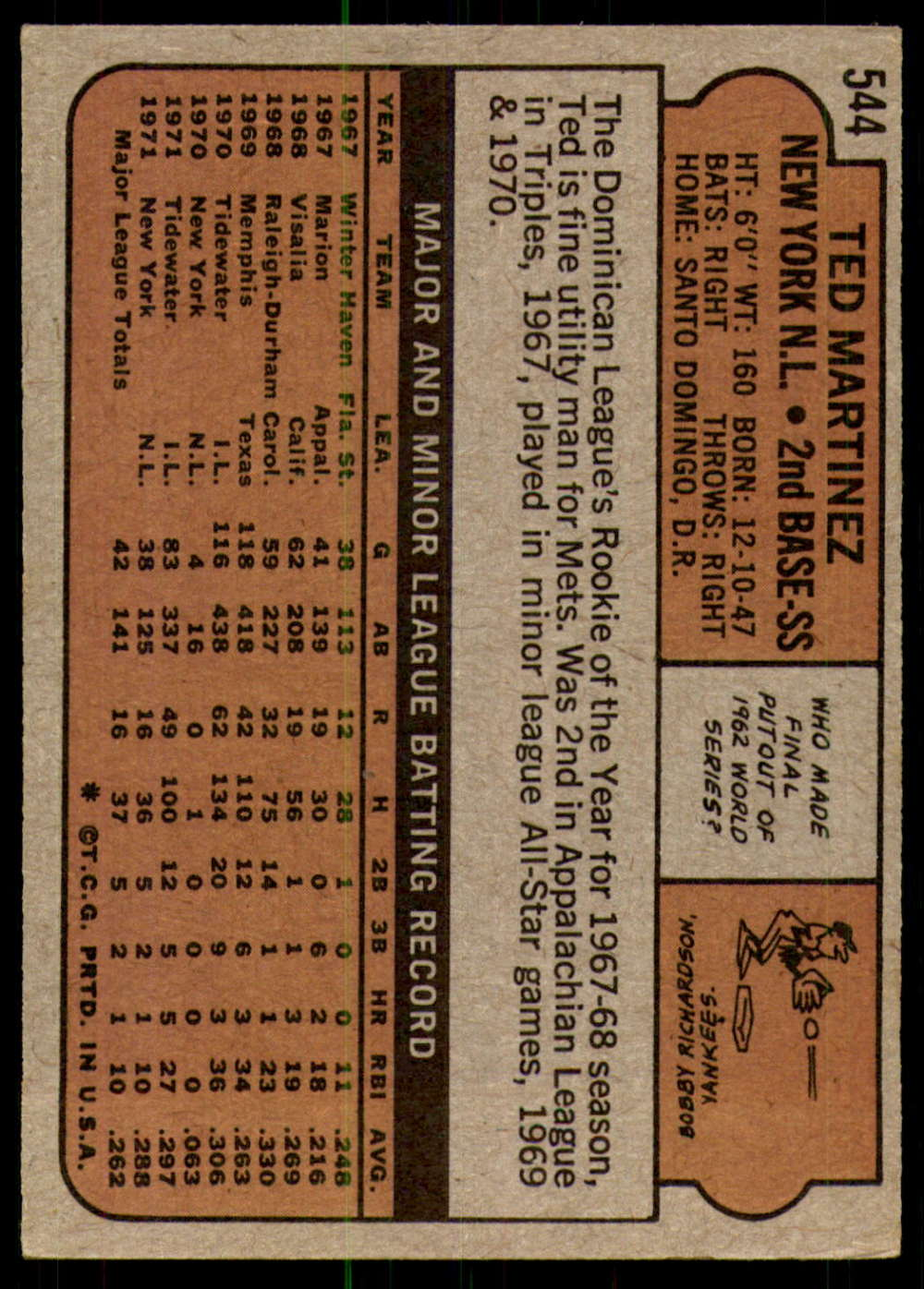 1972-Topps-Baseball-Set-497-787-Pick-Your-Card-Each-Card-Scanned-Front-amp-Back thumbnail 75