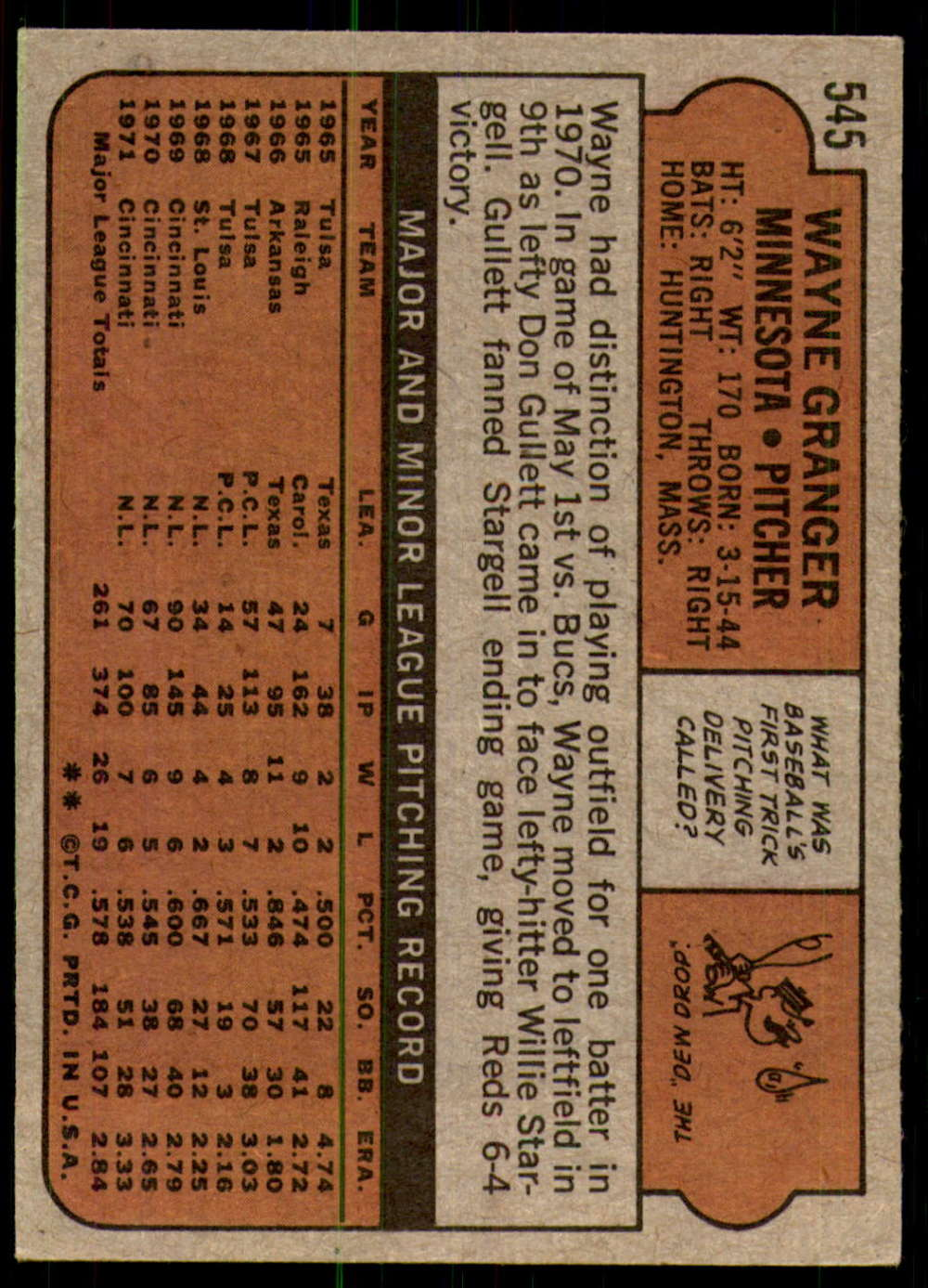 1972-Topps-Baseball-Set-497-787-Pick-Your-Card-Each-Card-Scanned-Front-amp-Back thumbnail 79