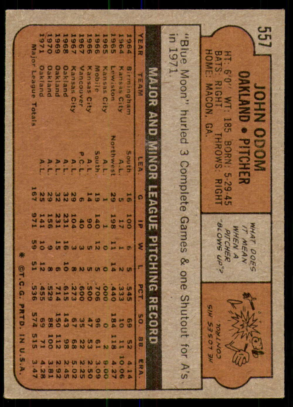 1972-Topps-Baseball-Set-497-787-Pick-Your-Card-Each-Card-Scanned-Front-amp-Back thumbnail 111