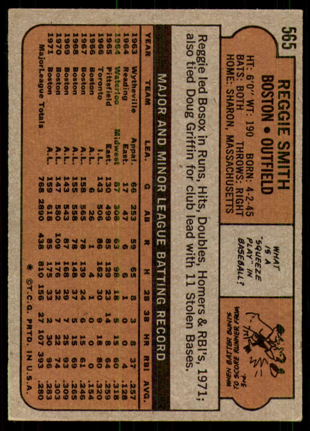 1972-Topps-Baseball-Set-497-787-Pick-Your-Card-Each-Card-Scanned-Front-amp-Back thumbnail 133