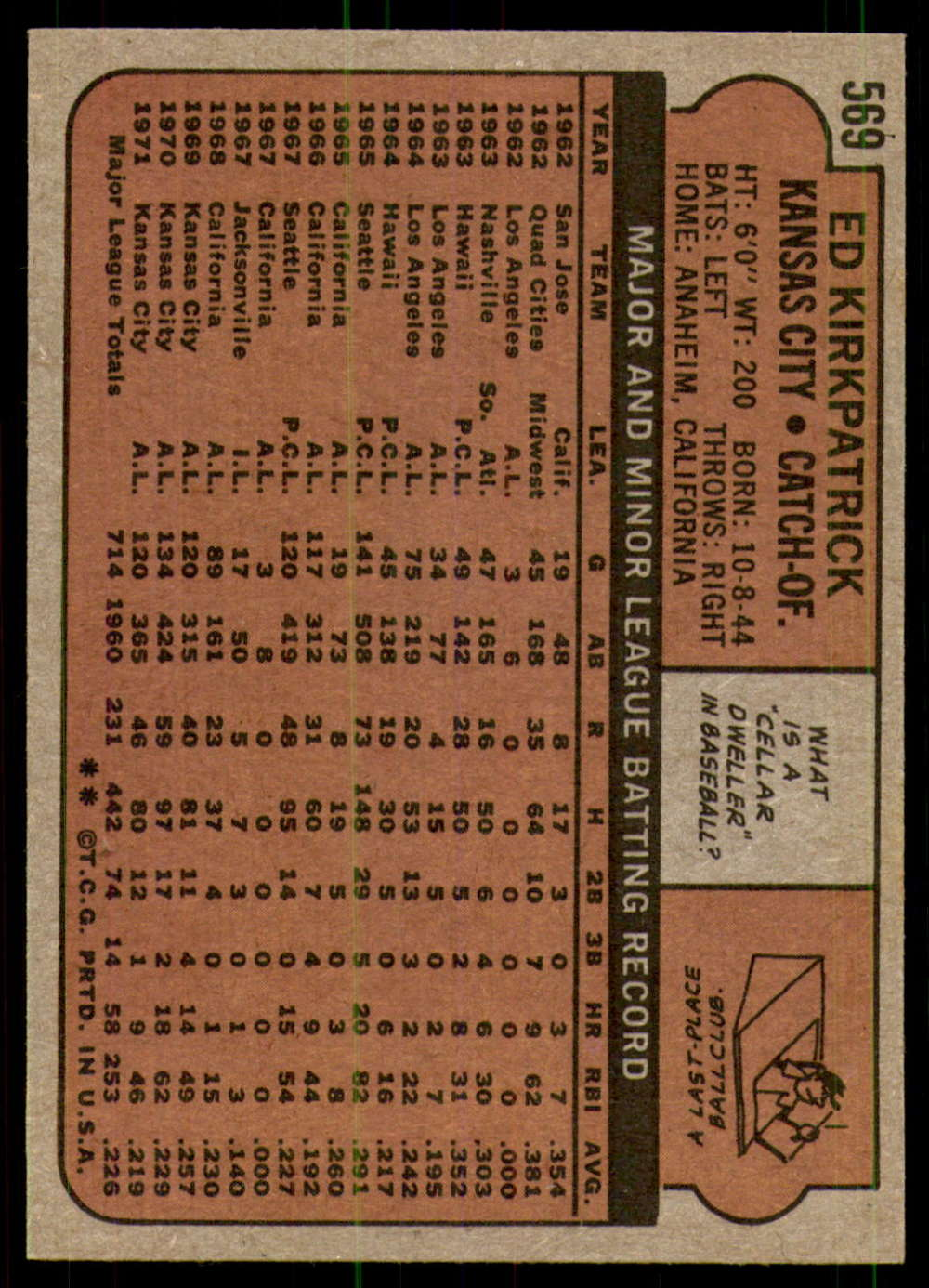 1972-Topps-Baseball-Set-497-787-Pick-Your-Card-Each-Card-Scanned-Front-amp-Back thumbnail 139