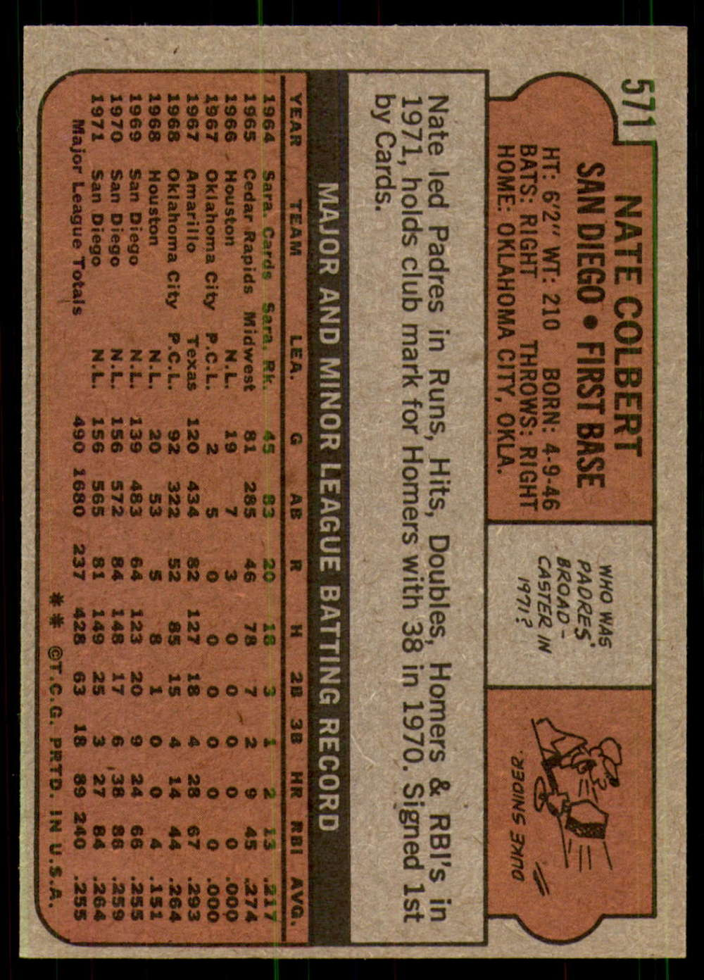 1972-Topps-Baseball-Set-497-787-Pick-Your-Card-Each-Card-Scanned-Front-amp-Back thumbnail 143