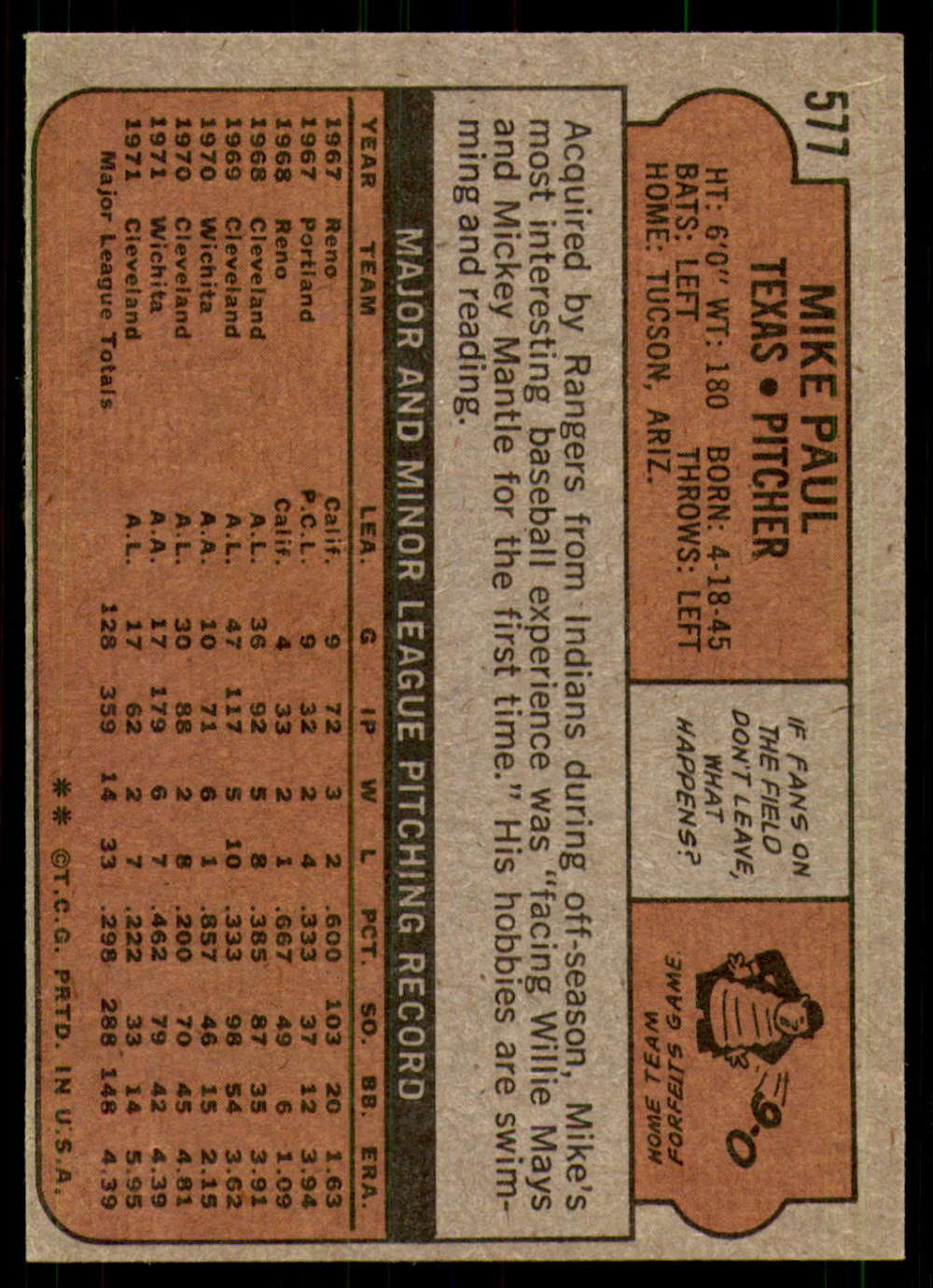 1972-Topps-Baseball-Set-497-787-Pick-Your-Card-Each-Card-Scanned-Front-amp-Back thumbnail 147