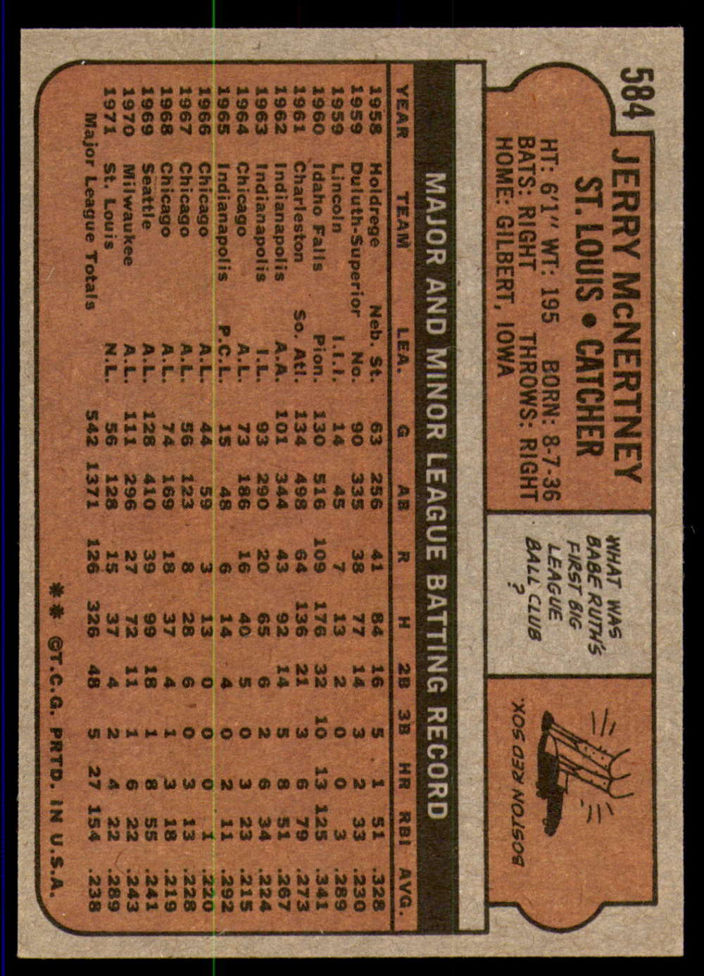 1972-Topps-Baseball-Set-497-787-Pick-Your-Card-Each-Card-Scanned-Front-amp-Back thumbnail 157
