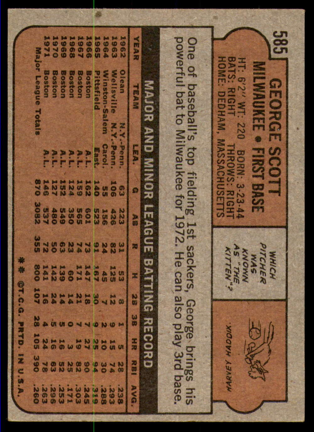 1972-Topps-Baseball-Set-497-787-Pick-Your-Card-Each-Card-Scanned-Front-amp-Back thumbnail 159