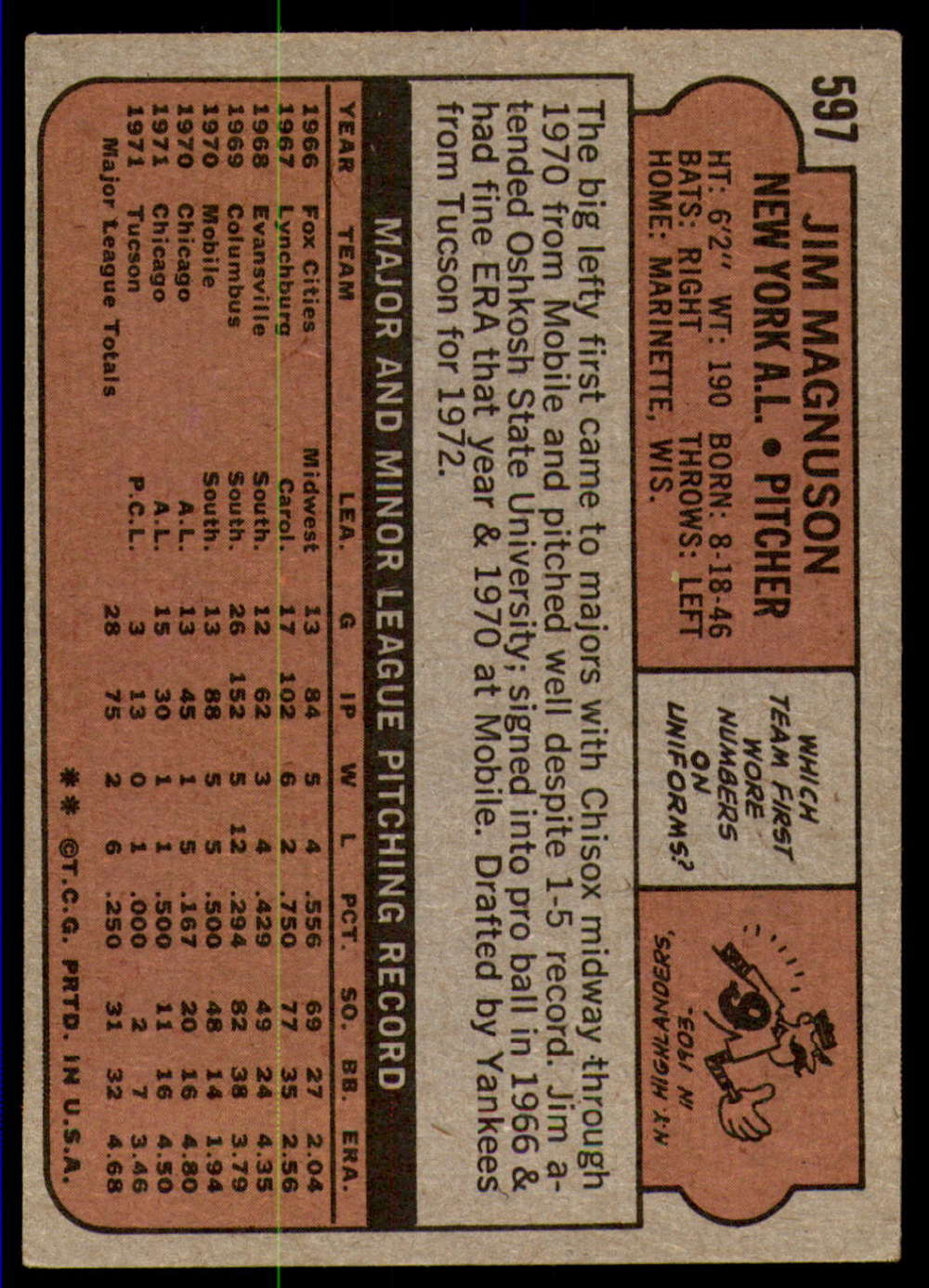 1972-Topps-Baseball-Set-497-787-Pick-Your-Card-Each-Card-Scanned-Front-amp-Back thumbnail 175