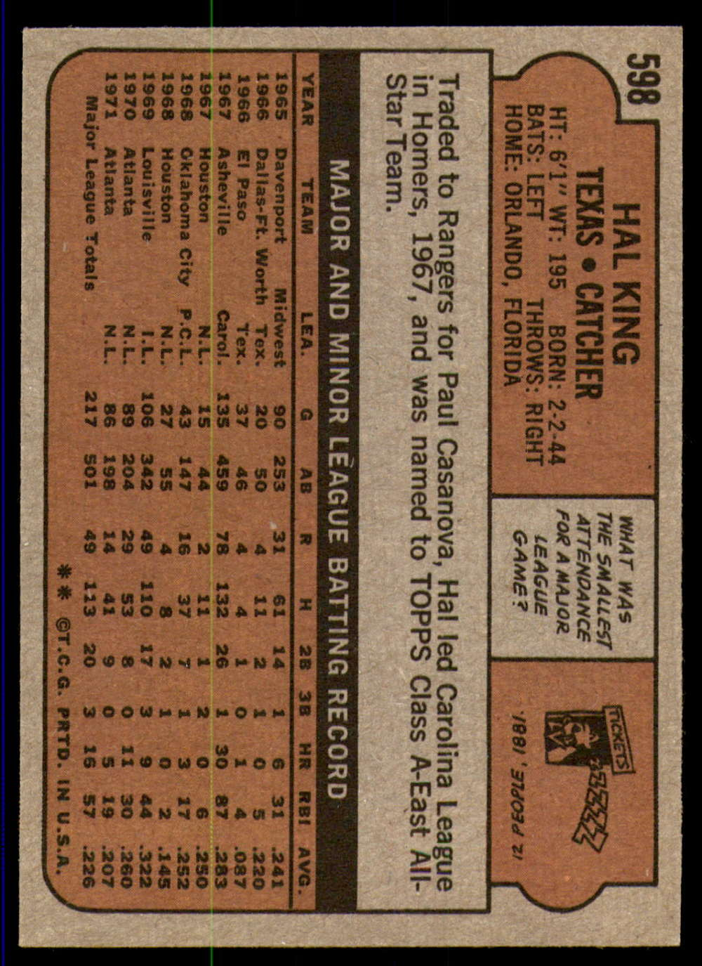 1972-Topps-Baseball-Set-497-787-Pick-Your-Card-Each-Card-Scanned-Front-amp-Back thumbnail 177
