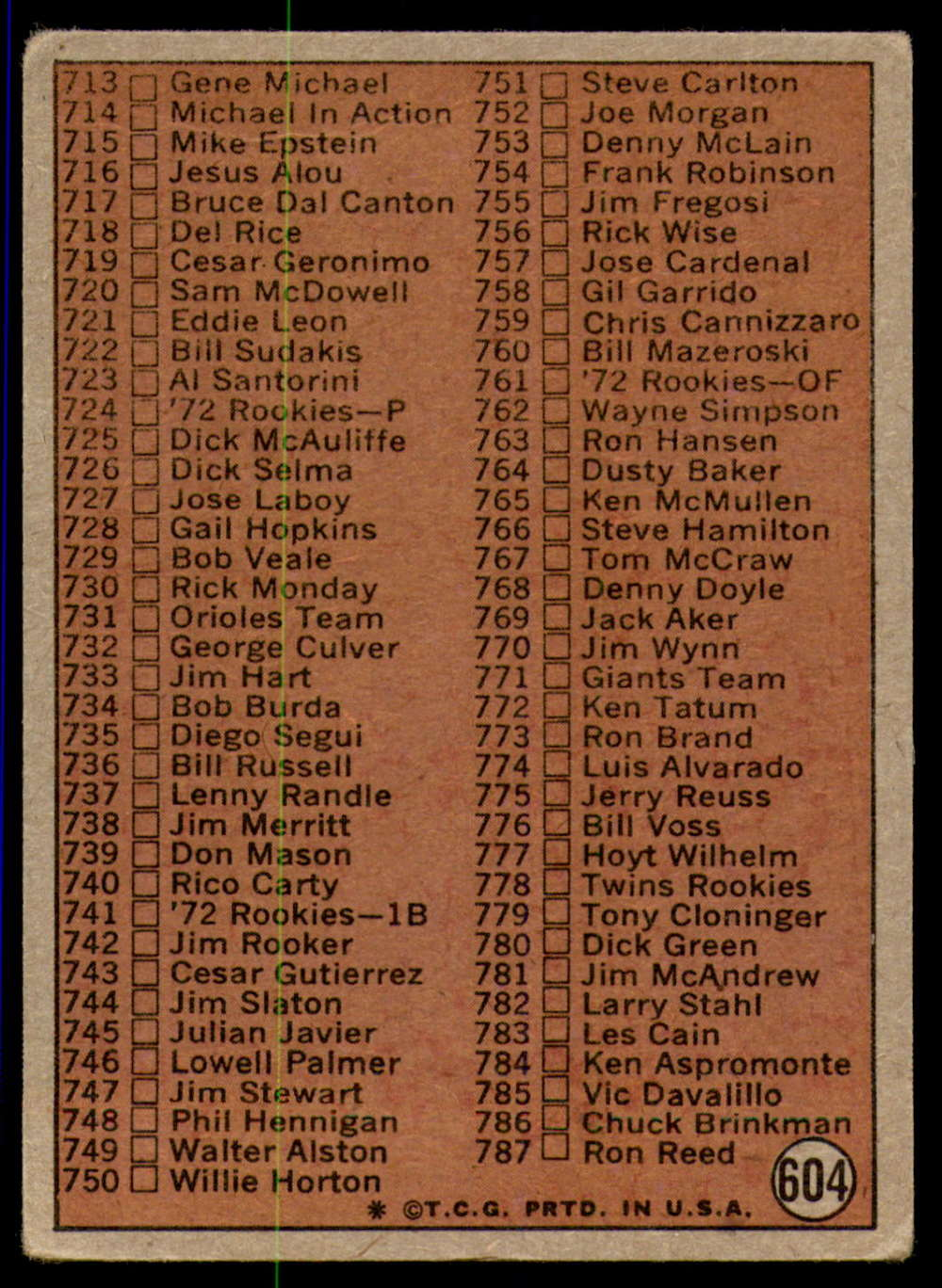 1972-Topps-Baseball-Set-497-787-Pick-Your-Card-Each-Card-Scanned-Front-amp-Back thumbnail 183