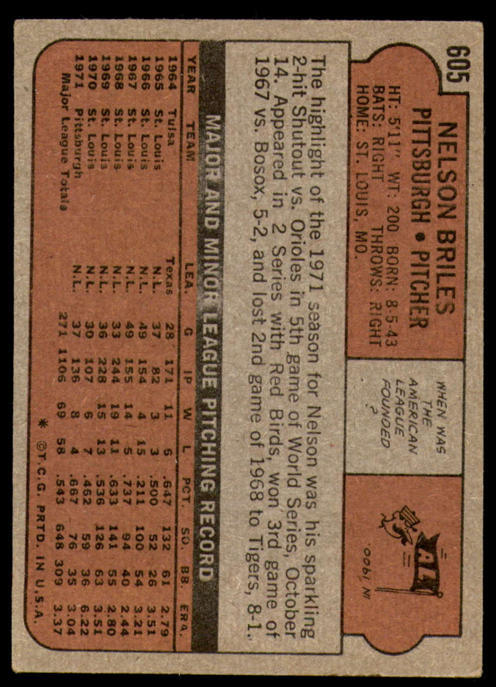 1972-Topps-Baseball-Set-497-787-Pick-Your-Card-Each-Card-Scanned-Front-amp-Back thumbnail 185