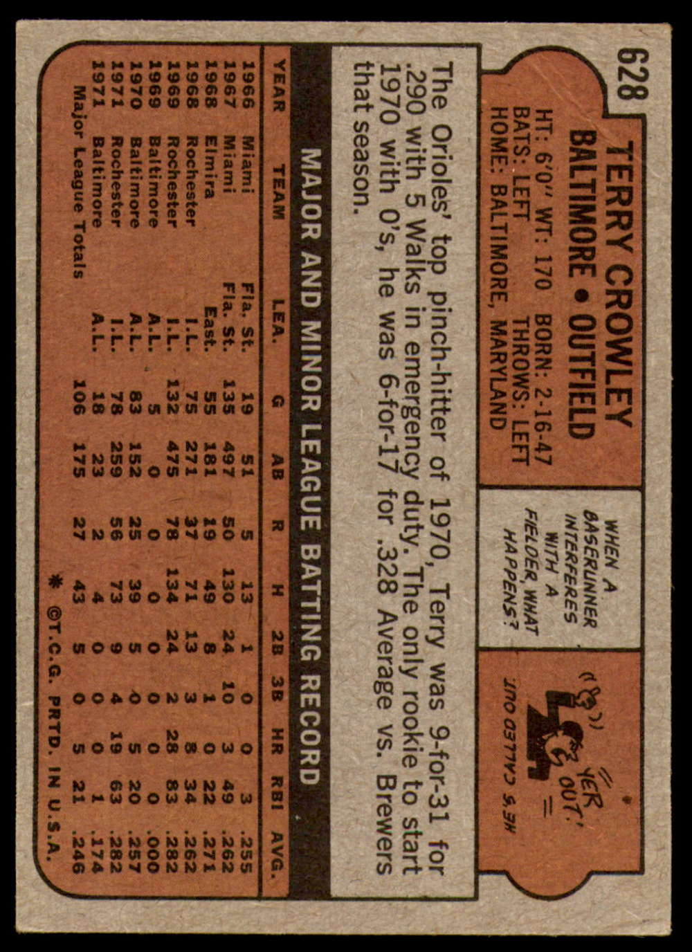 1972-Topps-Baseball-Set-497-787-Pick-Your-Card-Each-Card-Scanned-Front-amp-Back thumbnail 213