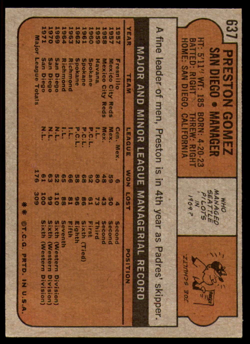 1972-Topps-Baseball-Set-497-787-Pick-Your-Card-Each-Card-Scanned-Front-amp-Back thumbnail 223