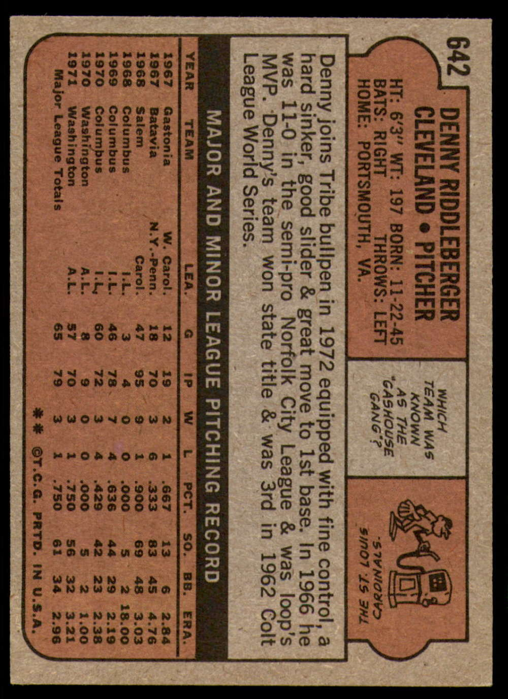 1972-Topps-Baseball-Set-497-787-Pick-Your-Card-Each-Card-Scanned-Front-amp-Back thumbnail 231