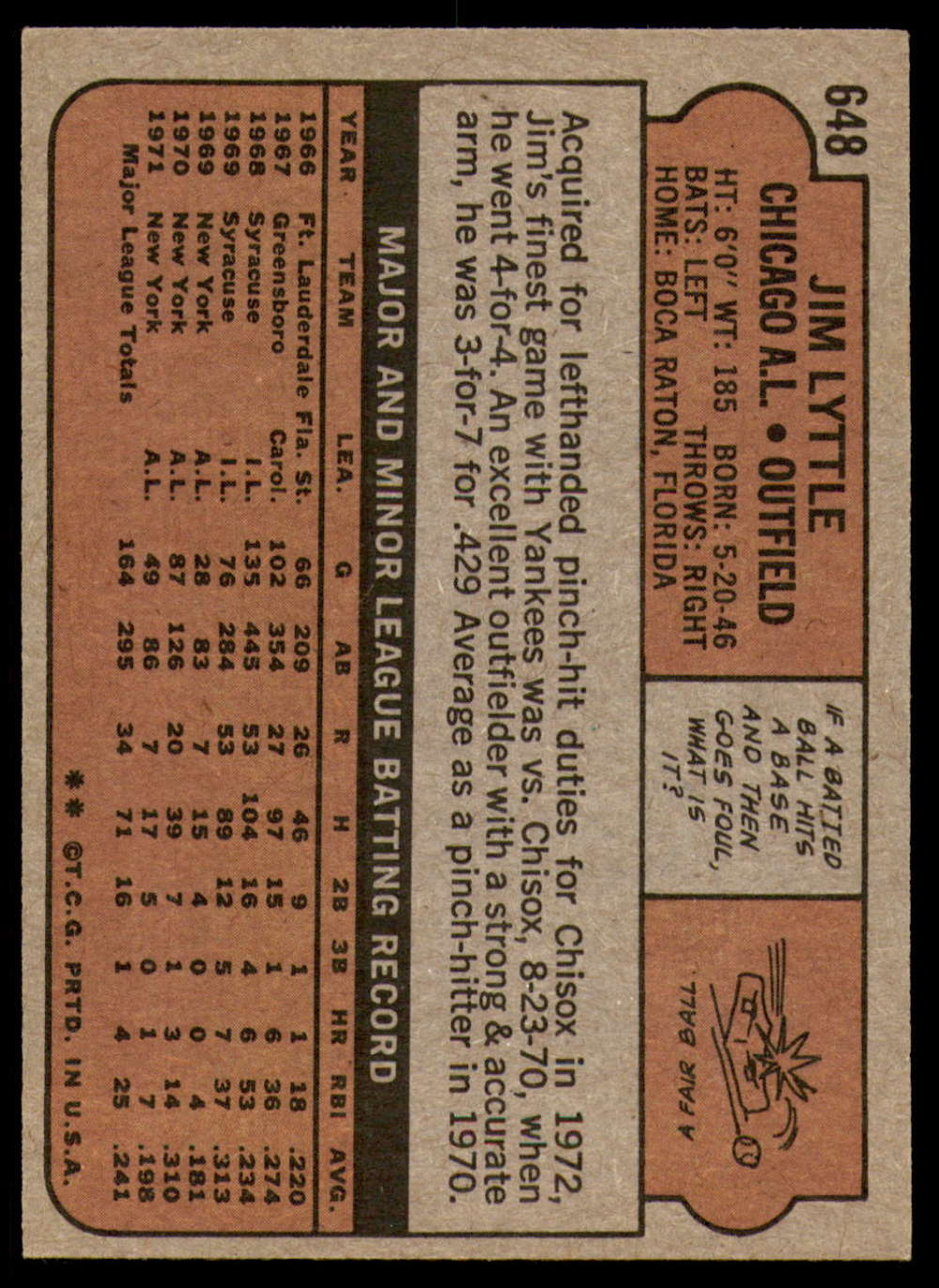 1972-Topps-Baseball-Set-497-787-Pick-Your-Card-Each-Card-Scanned-Front-amp-Back thumbnail 243