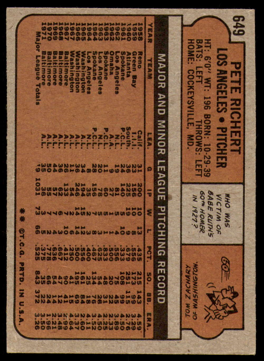 1972-Topps-Baseball-Set-497-787-Pick-Your-Card-Each-Card-Scanned-Front-amp-Back thumbnail 245