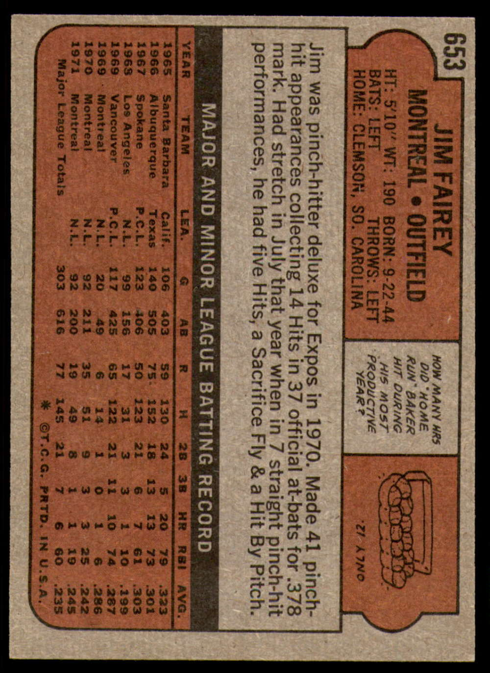 1972-Topps-Baseball-Set-497-787-Pick-Your-Card-Each-Card-Scanned-Front-amp-Back thumbnail 247