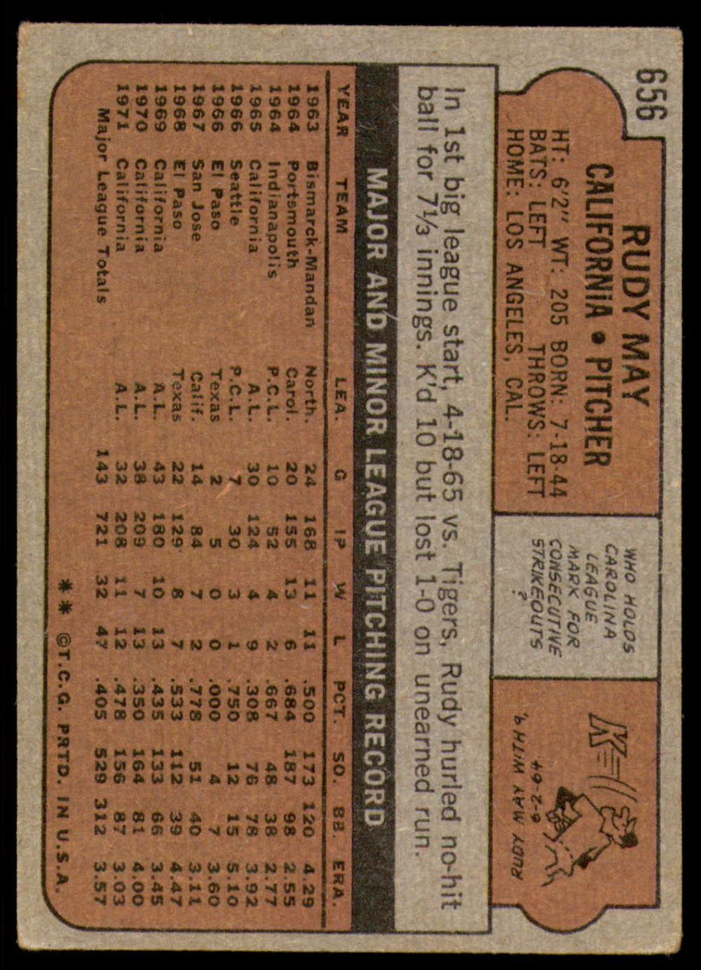1972-Topps-Baseball-Set-497-787-Pick-Your-Card-Each-Card-Scanned-Front-amp-Back thumbnail 251