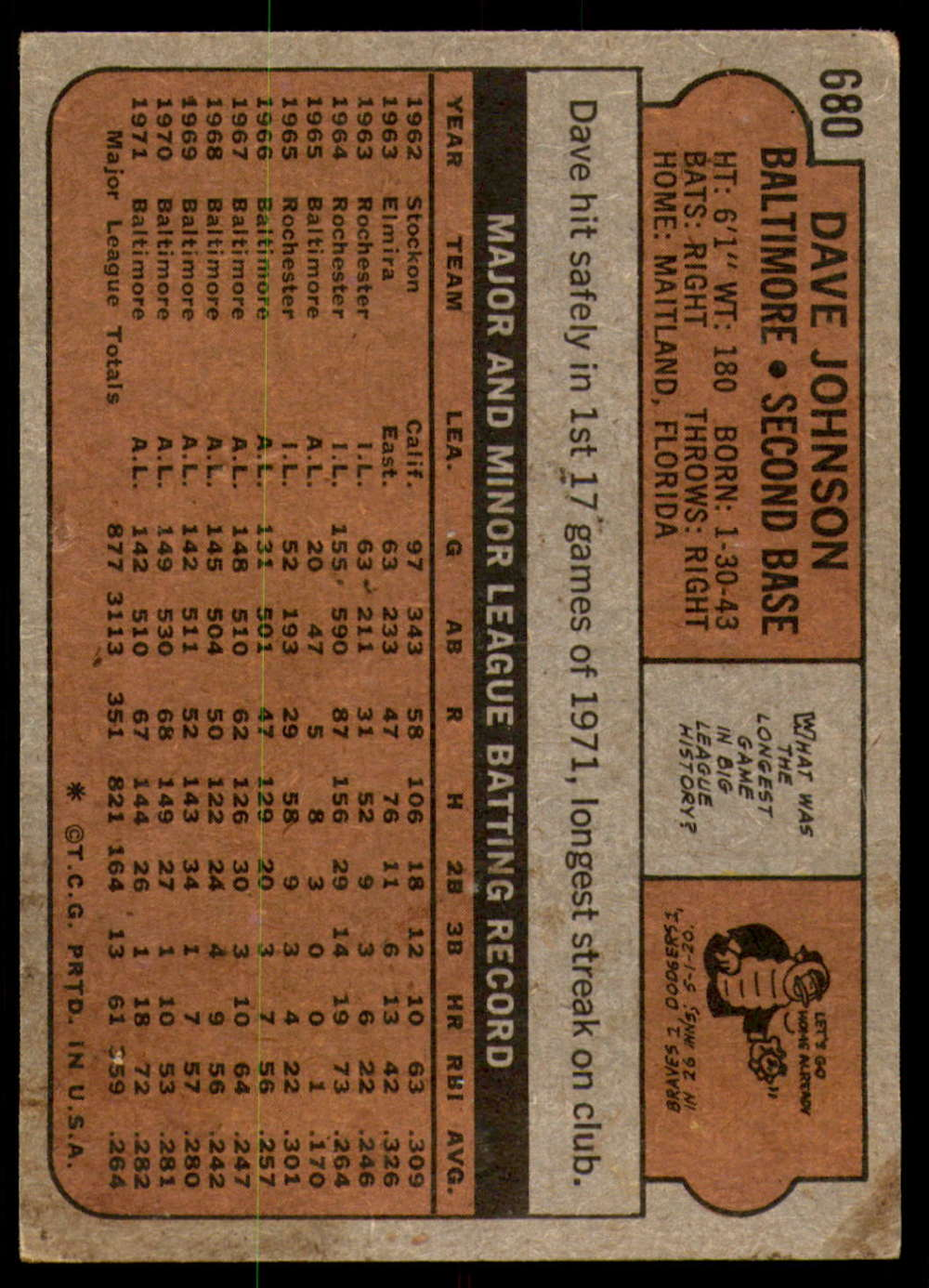 1972-Topps-Baseball-Set-497-787-Pick-Your-Card-Each-Card-Scanned-Front-amp-Back thumbnail 275