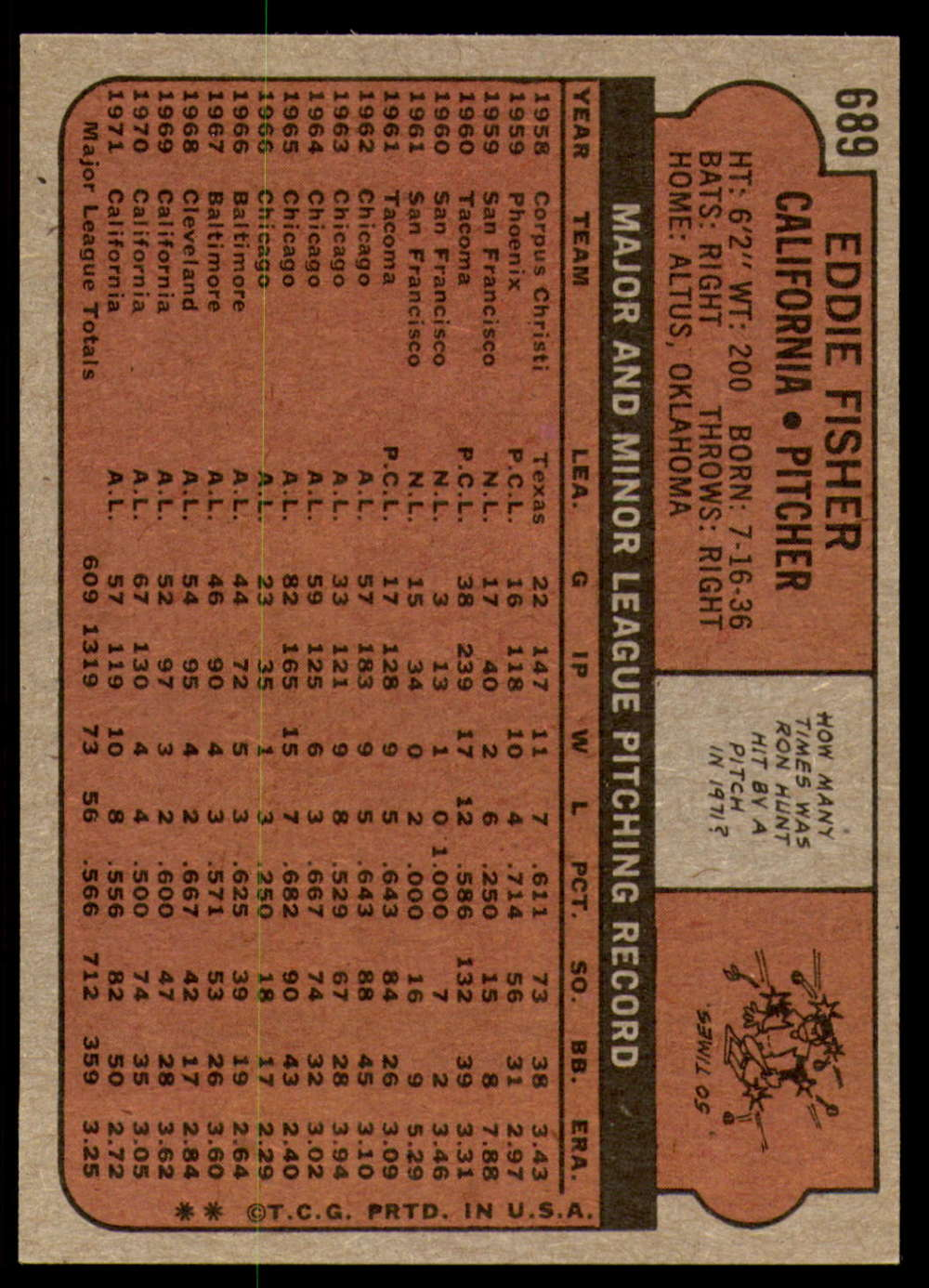 1972-Topps-Baseball-Set-497-787-Pick-Your-Card-Each-Card-Scanned-Front-amp-Back thumbnail 279