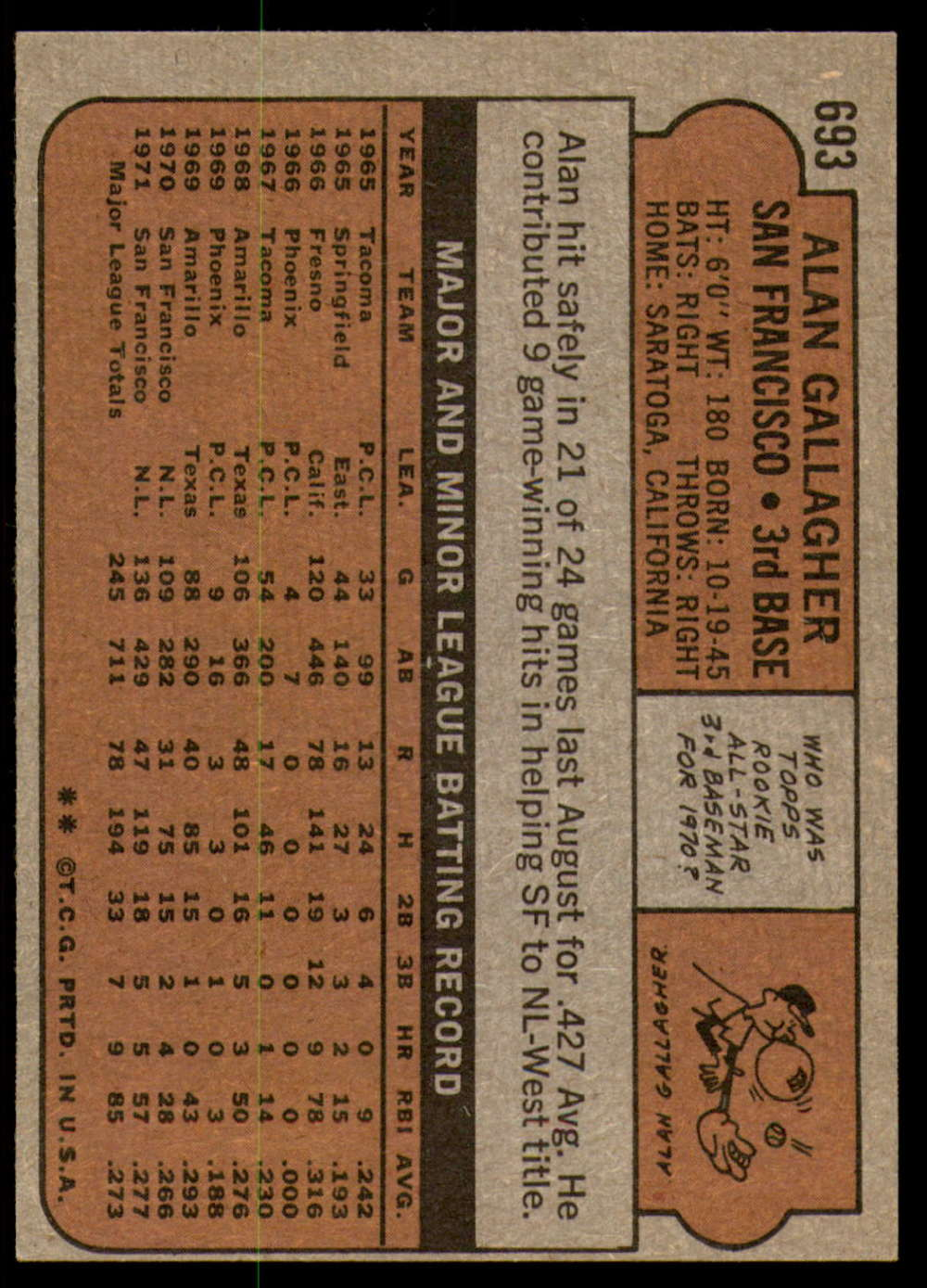 1972-Topps-Baseball-Set-497-787-Pick-Your-Card-Each-Card-Scanned-Front-amp-Back thumbnail 281