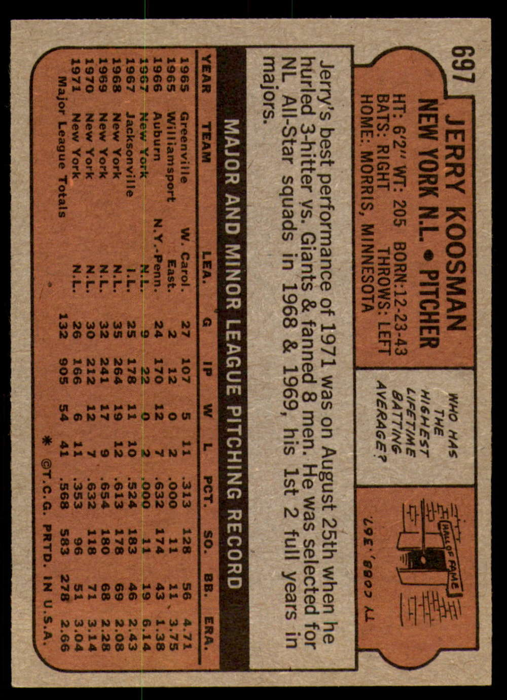 1972-Topps-Baseball-Set-497-787-Pick-Your-Card-Each-Card-Scanned-Front-amp-Back thumbnail 283