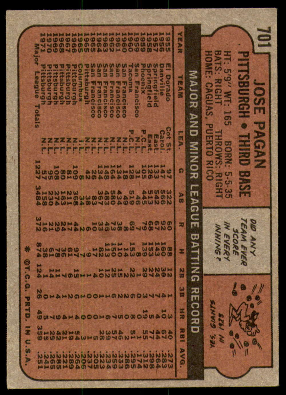1972-Topps-Baseball-Set-497-787-Pick-Your-Card-Each-Card-Scanned-Front-amp-Back thumbnail 285