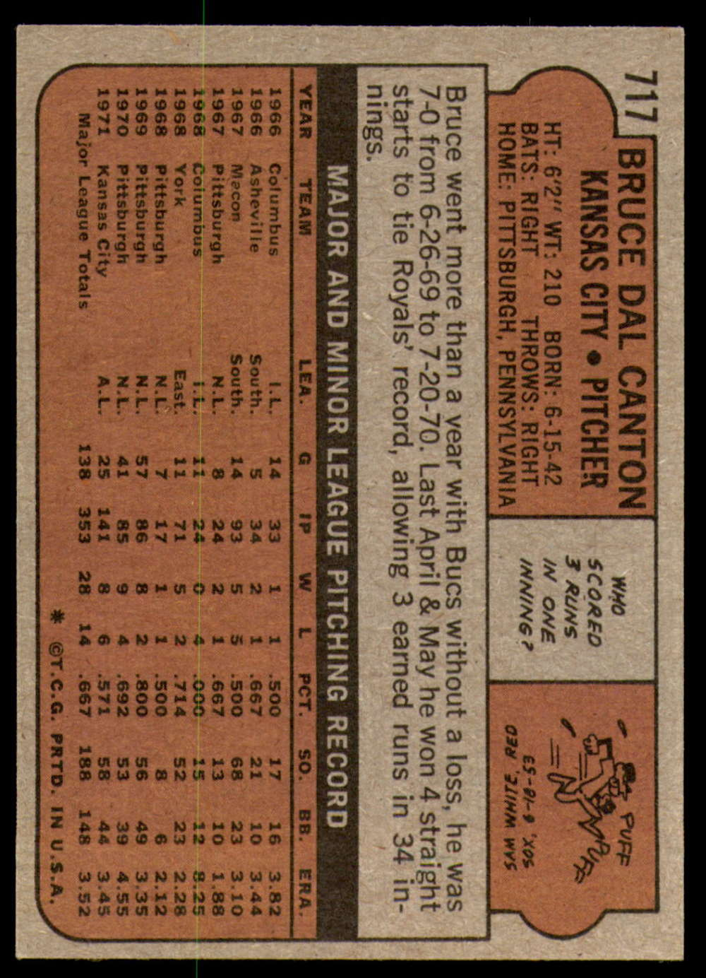 1972-Topps-Baseball-Set-497-787-Pick-Your-Card-Each-Card-Scanned-Front-amp-Back thumbnail 291