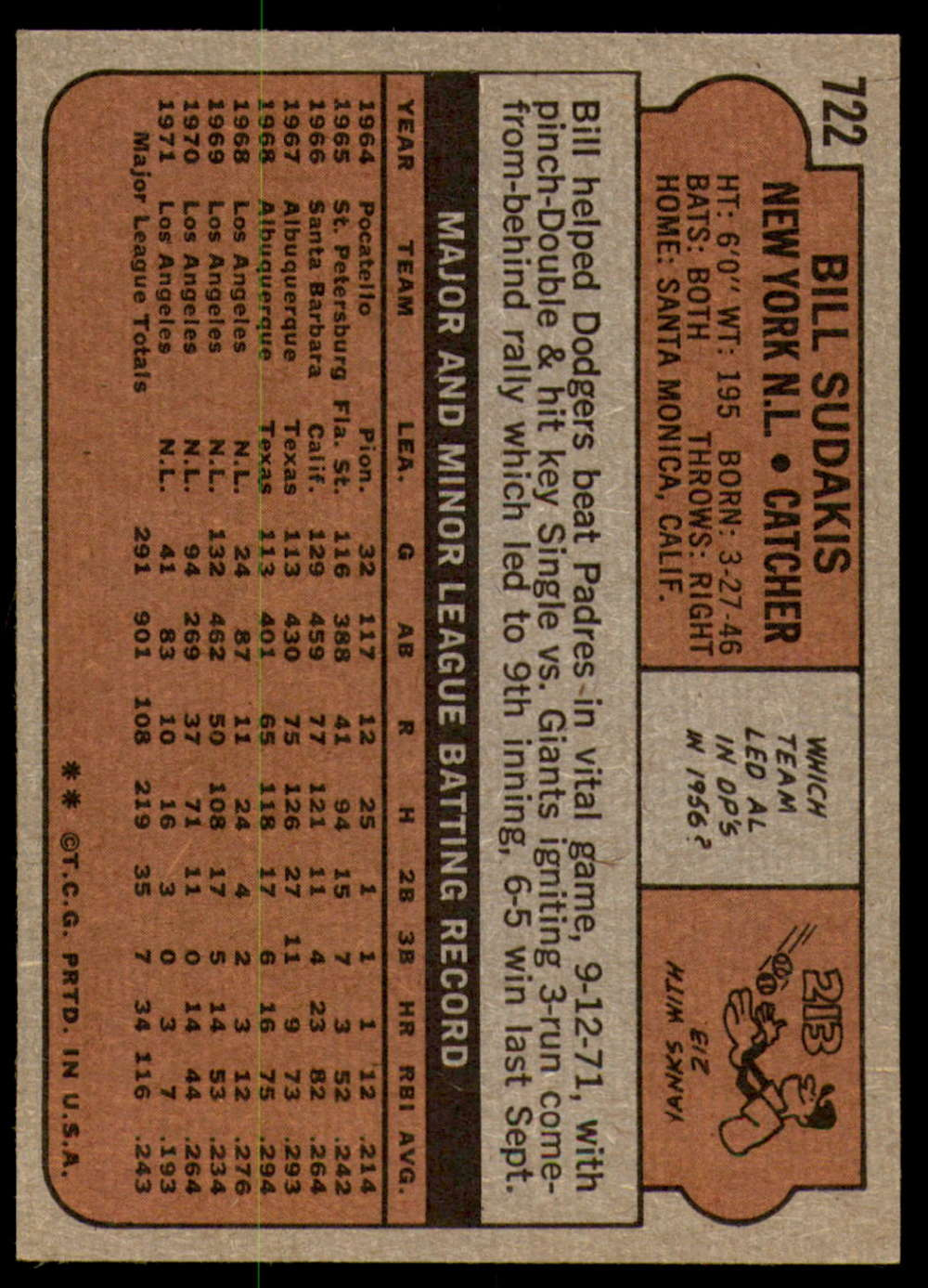 1972-Topps-Baseball-Set-497-787-Pick-Your-Card-Each-Card-Scanned-Front-amp-Back thumbnail 293