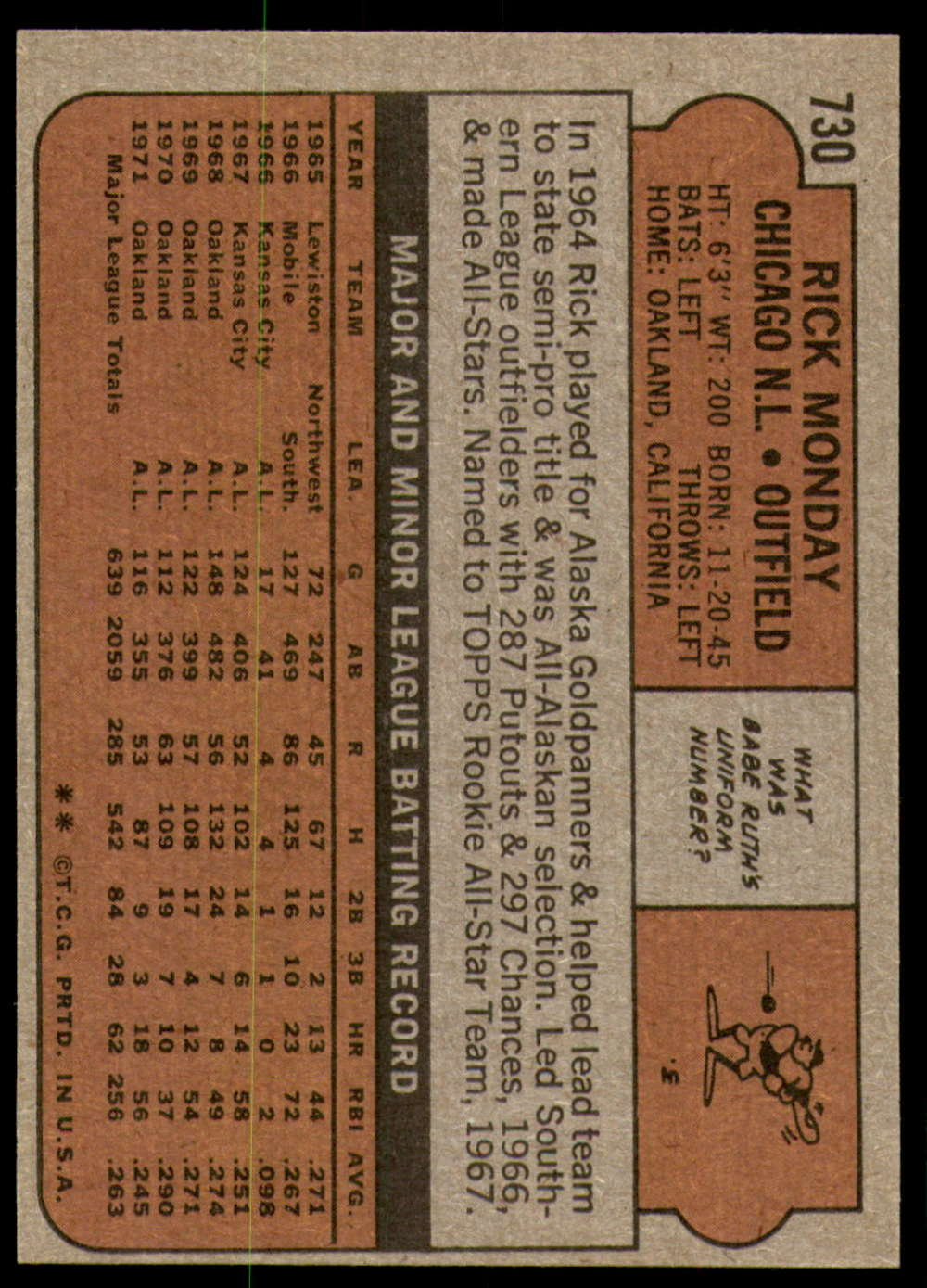 1972-Topps-Baseball-Set-497-787-Pick-Your-Card-Each-Card-Scanned-Front-amp-Back thumbnail 303