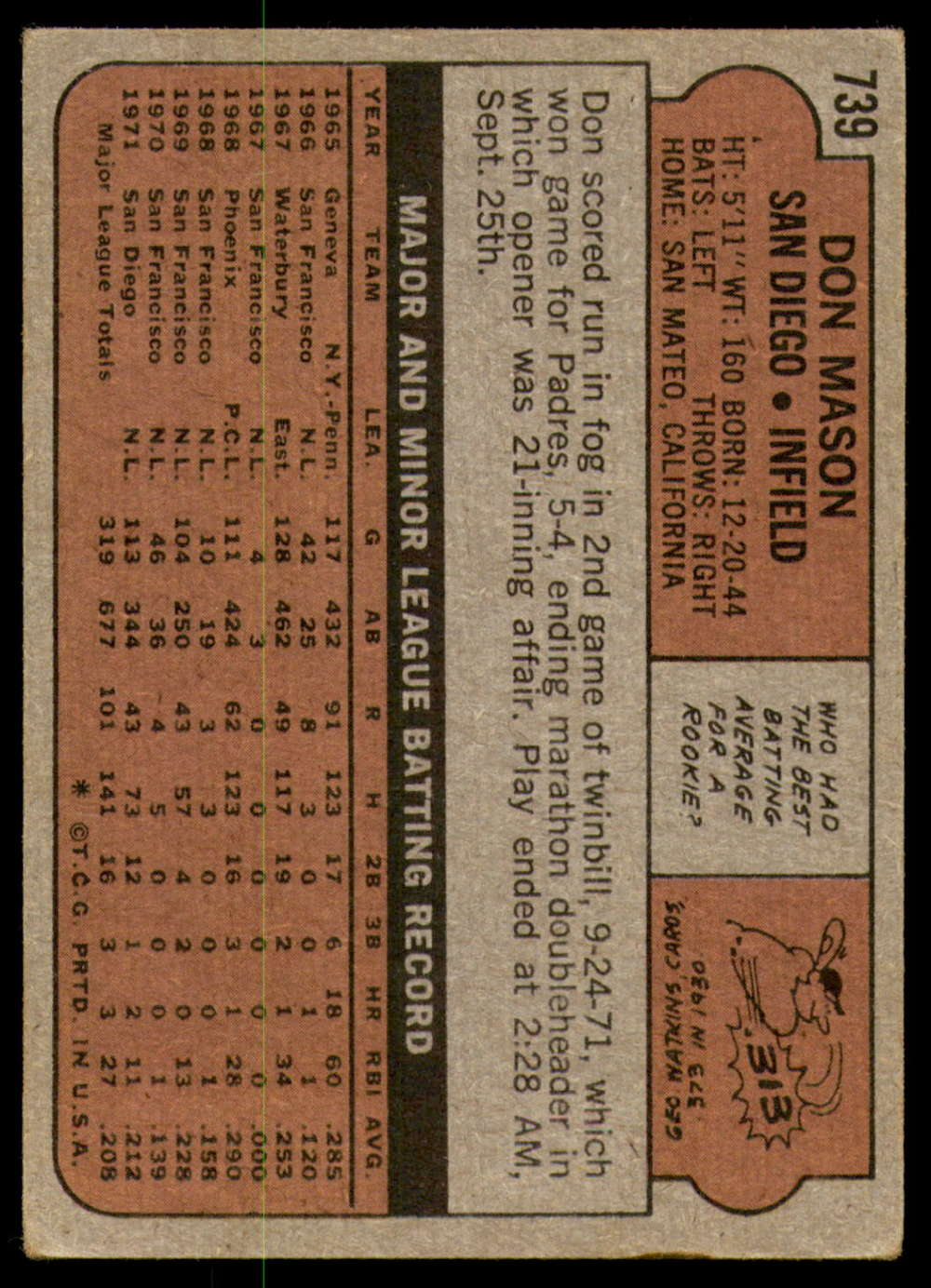 1972-Topps-Baseball-Set-497-787-Pick-Your-Card-Each-Card-Scanned-Front-amp-Back thumbnail 313
