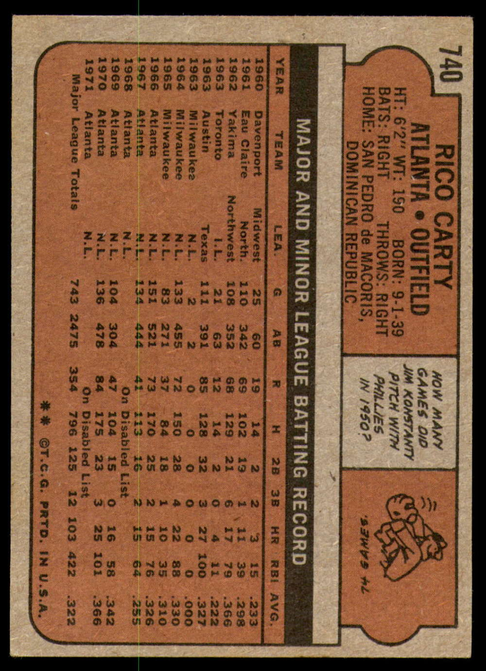 1972-Topps-Baseball-Set-497-787-Pick-Your-Card-Each-Card-Scanned-Front-amp-Back thumbnail 315