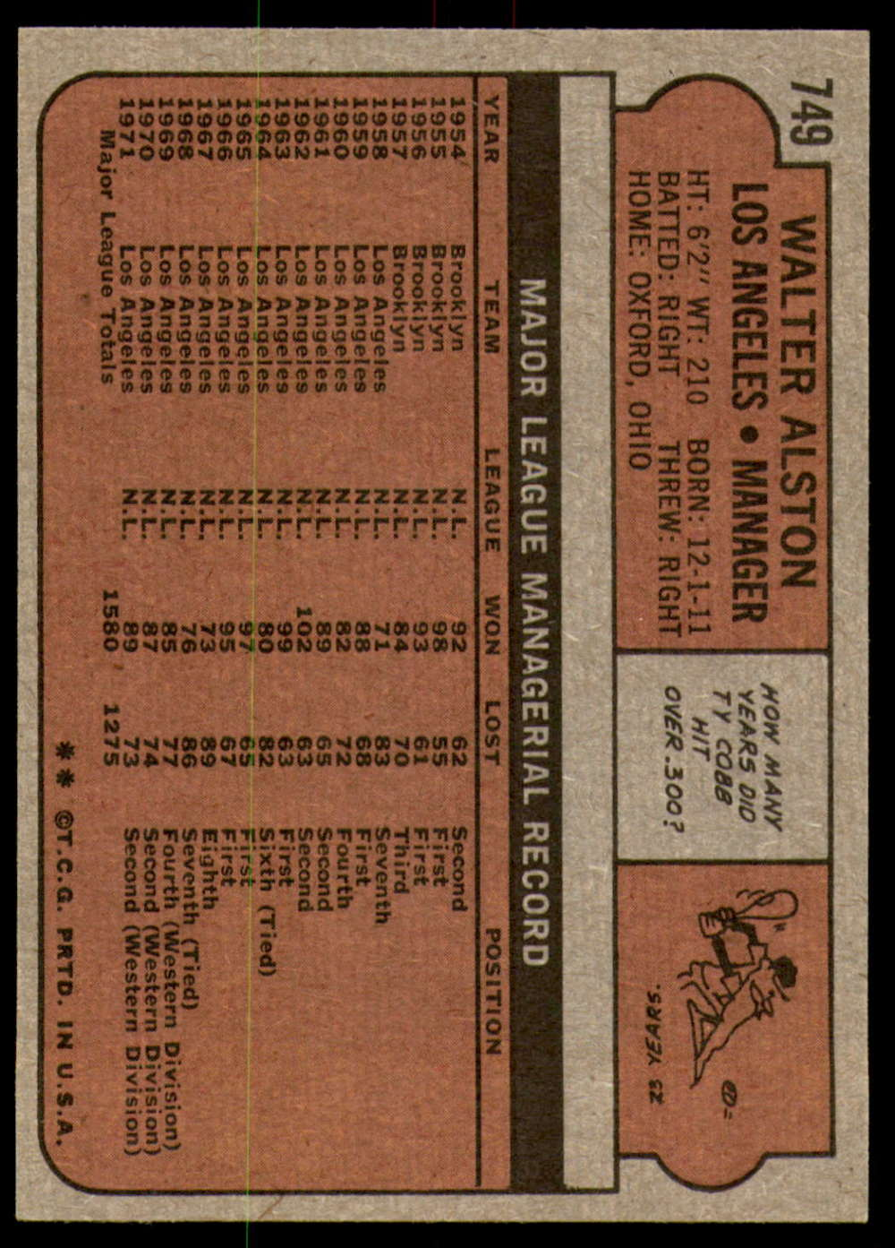 1972-Topps-Baseball-Set-497-787-Pick-Your-Card-Each-Card-Scanned-Front-amp-Back thumbnail 327