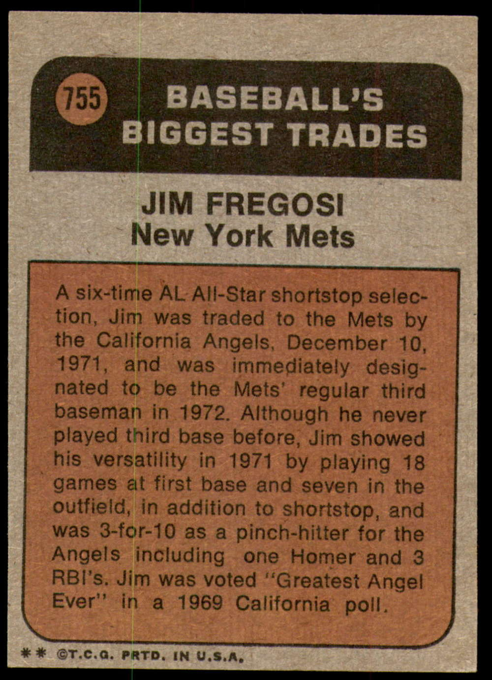 1972-Topps-Baseball-Set-497-787-Pick-Your-Card-Each-Card-Scanned-Front-amp-Back thumbnail 331