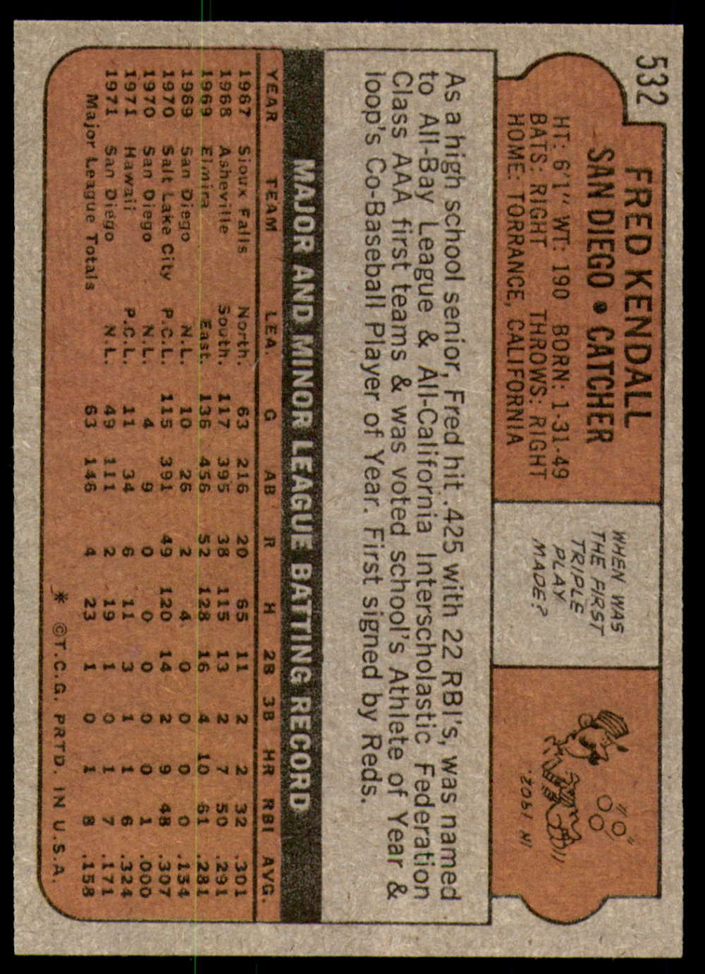 1972-Topps-Baseball-Set-497-787-Pick-Your-Card-Each-Card-Scanned-Front-amp-Back thumbnail 33