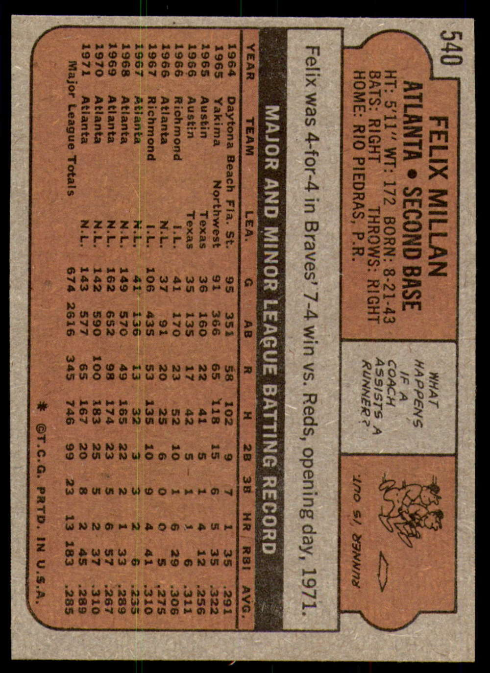 1972-Topps-Baseball-Set-497-787-Pick-Your-Card-Each-Card-Scanned-Front-amp-Back thumbnail 57