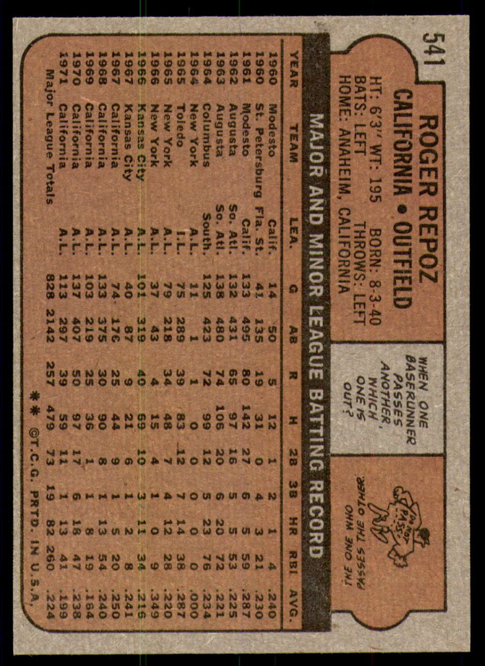 1972-Topps-Baseball-Set-497-787-Pick-Your-Card-Each-Card-Scanned-Front-amp-Back thumbnail 61