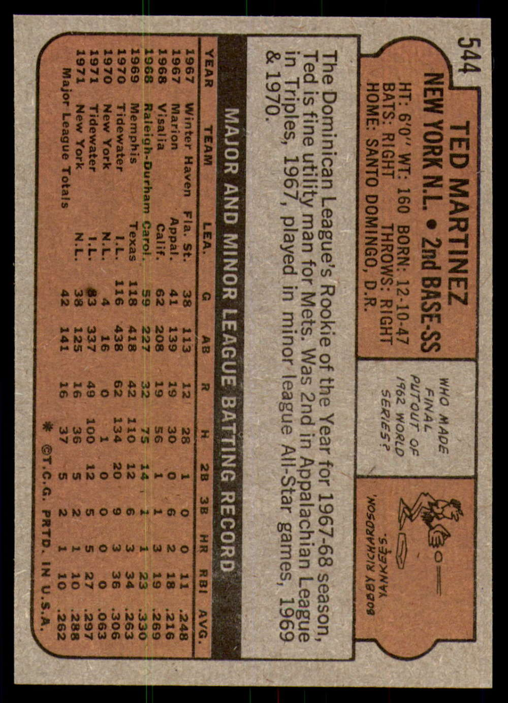 1972-Topps-Baseball-Set-497-787-Pick-Your-Card-Each-Card-Scanned-Front-amp-Back thumbnail 73