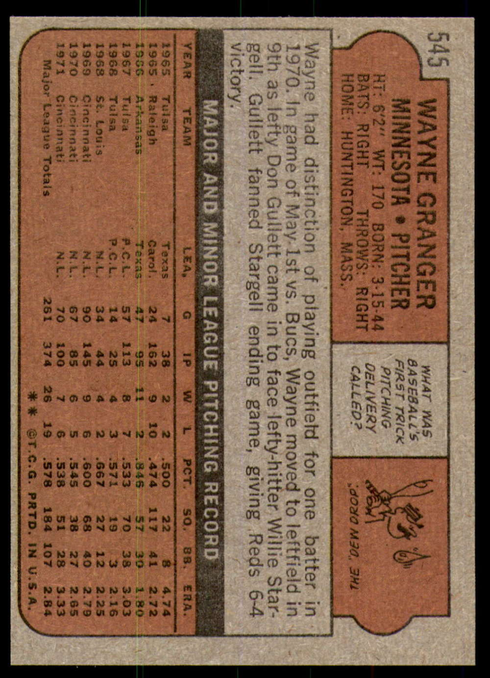 1972-Topps-Baseball-Set-497-787-Pick-Your-Card-Each-Card-Scanned-Front-amp-Back thumbnail 77